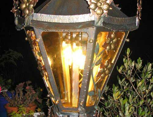 Standlampe flower kurz